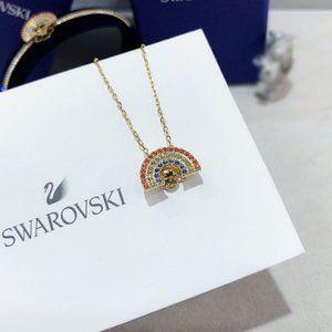Swarovski Beating Heart Rainbow Necklace